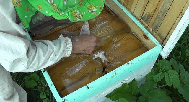 Кормушка для пчел своими руками | Бутылка+лоток
