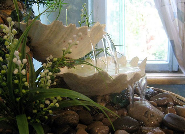Декоративный настольный фонтан с подсветкой своими руками