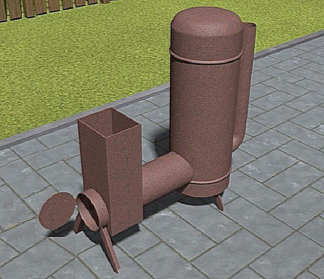 Печь ракета своими руками для загородного дома
