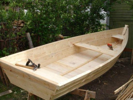 Простая деревянная лодка своими руками