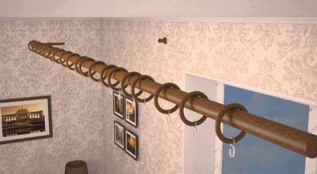 Карнизы для штор с особой системой крепления своими руками