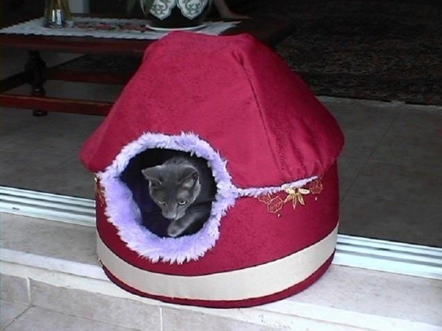 Палатка для кошки из футболки своими руками