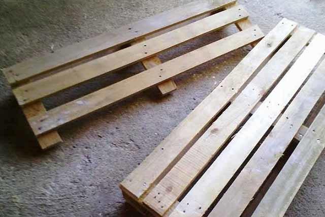 Поддон-скамейка своими руками