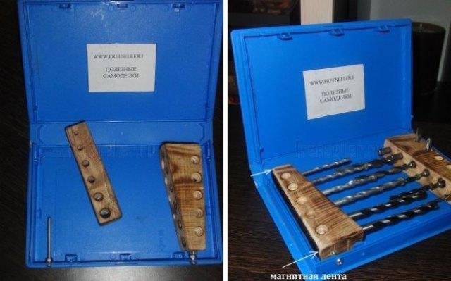 Подставка-органайзер для сверл своими руками