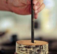 Декоративный ночник из дерева своими руками