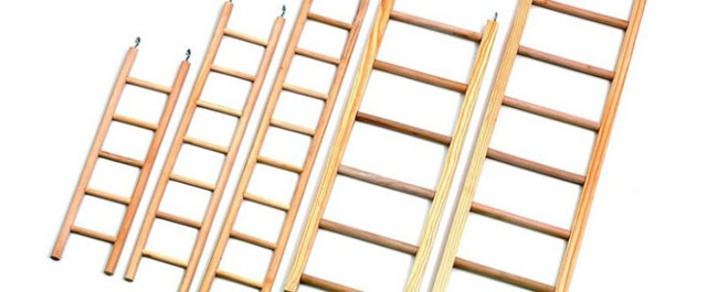 Деревянная приставная лестница своими руками