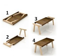 Как делать простой раскладной стол своими руками