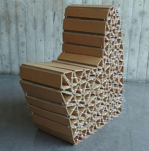 Самодельный диван из картона своими руками