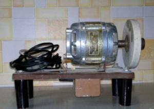 Заточной станок своими руками на двигателе АВЕ-071 от старой стиралки «ВЯТКА»