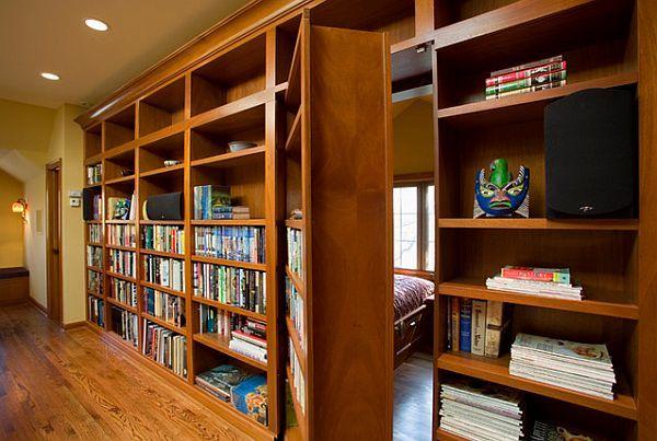 Книжный шкаф с секретной дверью своими руками