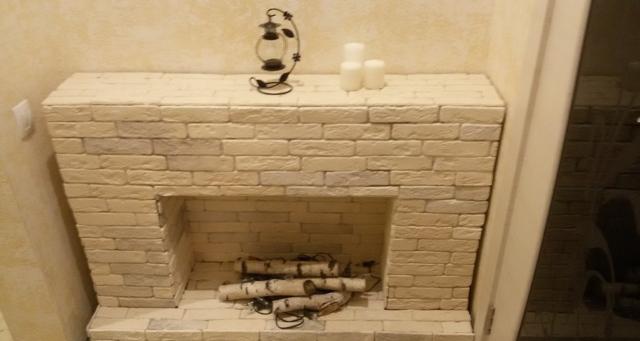 Фальш-камин в квартире своими руками