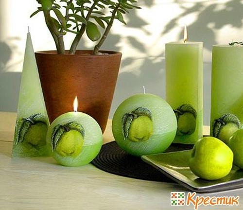 Оригинальная свеча своими руками