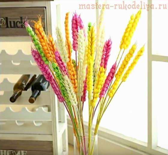 Колоски пшеницы в эпоксидке - светильник своими руками