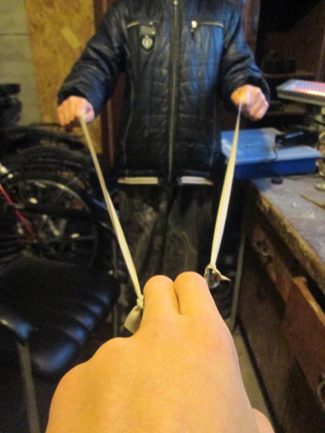 Мощная стальная рогатка своими руками