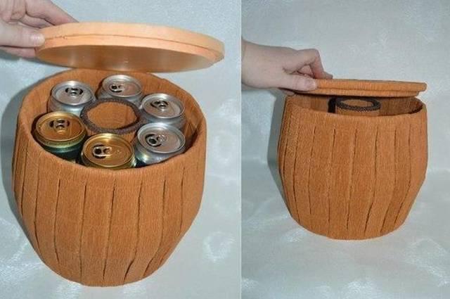 Декоративный бочонок мёда своими руками