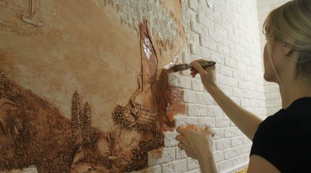 Барельеф на стене своими руками