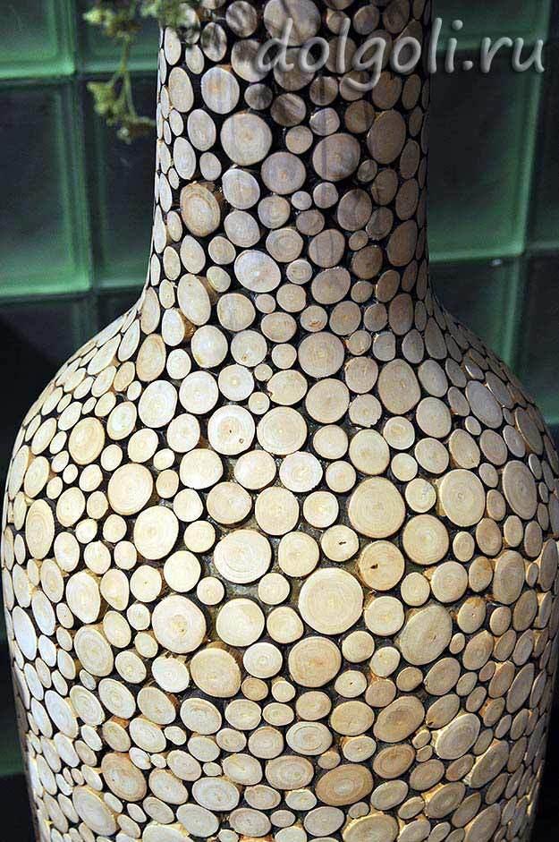 Декоративная деревянная ваза из термо-бука своими руками