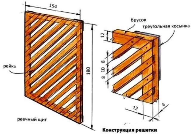 Плетеная решетка из кедровой доски своими руками
