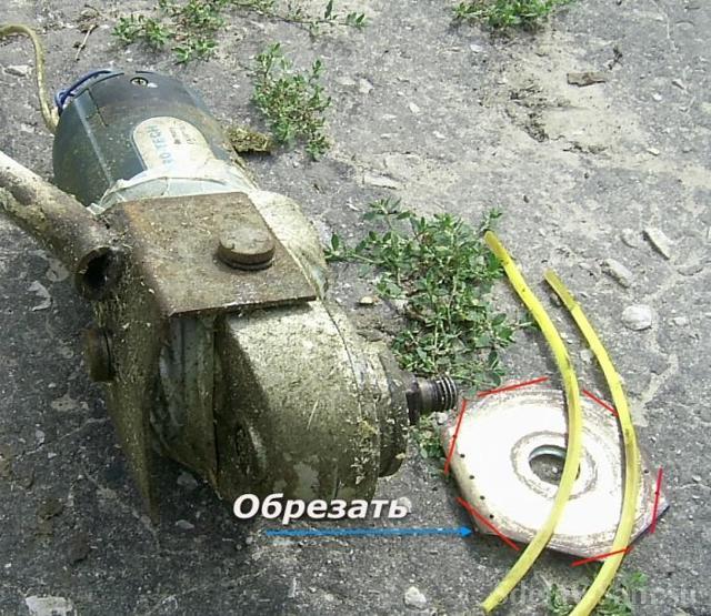 Триммер из болгарки своими руками