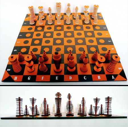 Многоуровневые шахматы, сделанные своими руками