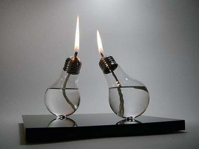 Бензиновый светильник из лампочки своими руками