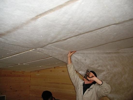 Утепляем потолок своими руками