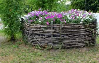 Садовая корзина своими руками