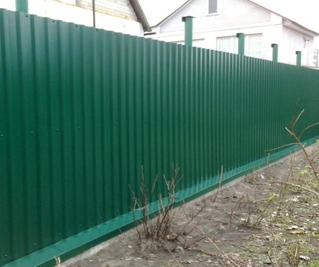 Забор своими руками