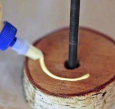 Простой деревянный светильник своими руками