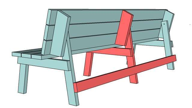 Простая скамейка для сада и огорода своими руками