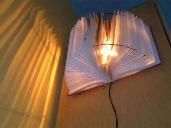 Настенный светильник своими руками