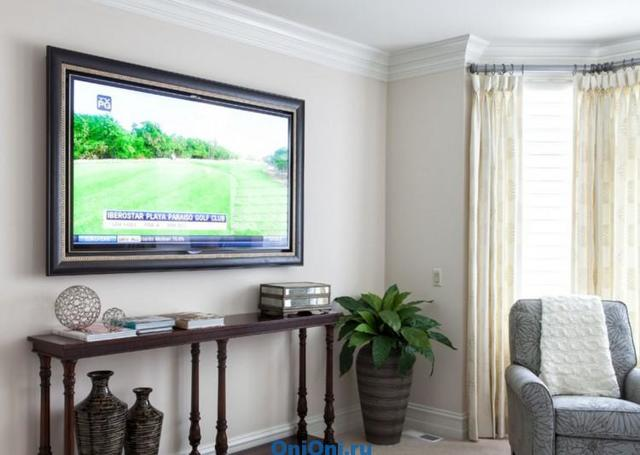 Рамка для плоского телевизора в ретро стиле своими руками
