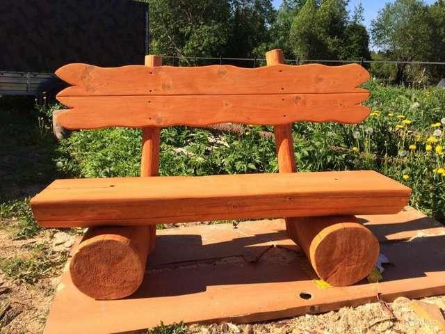 Идея для дачи  или как сделать скамейку из бревна своими руками
