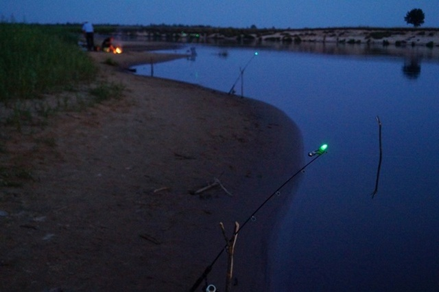 Донка со светодиодным сигнализатором для ловли ночью своими руками