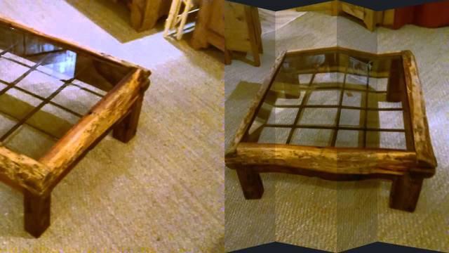 Оригинальный журнальный стол из стекла и картонной гальки своими руками