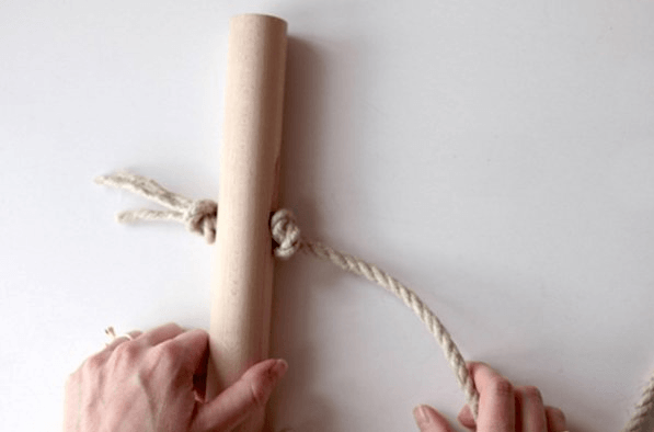 Буковый держатель для бельевой сушилки своими руками