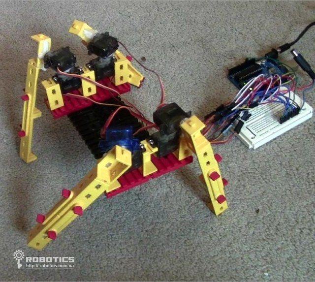 Как своими руками сделать паукообразного робота на arduino
