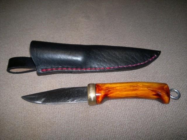 Нож с интересным рисунком своими руками