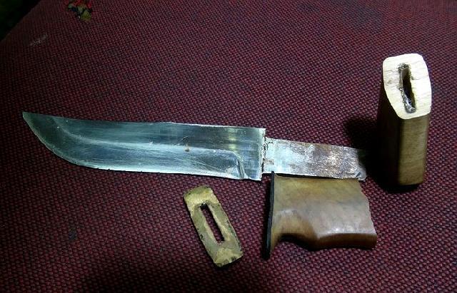 Ручка для ножа из текстолита своими руками