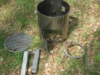 Вариант, как можно изготовить походную печь своими руками