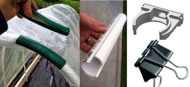Откидной парник из пластиковых труб и пленки своими руками