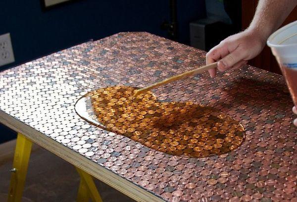 Перец в эпоксидке - стильный столик своими руками