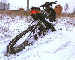 Делаем снегоход из скутера своими руками