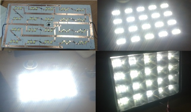 Автономный прожектор или накамерный свет своими руками