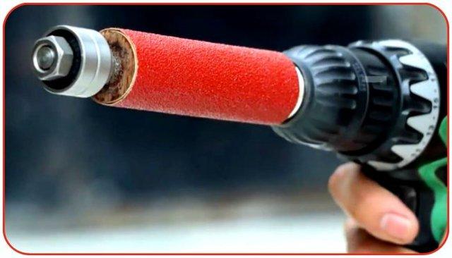 Барабанная шлифовальная насадка для шуруповерта своими руками