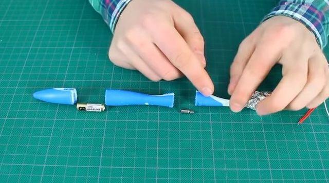 Электрическая зубная щетка своими руками