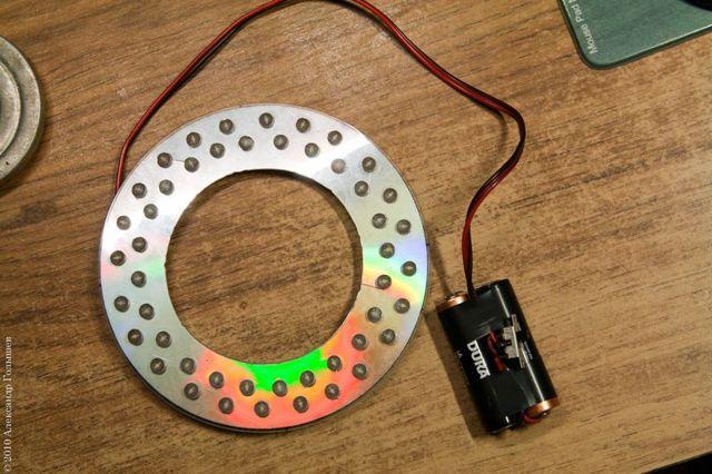 Светящийся круг на светодиодах rgb своими руками