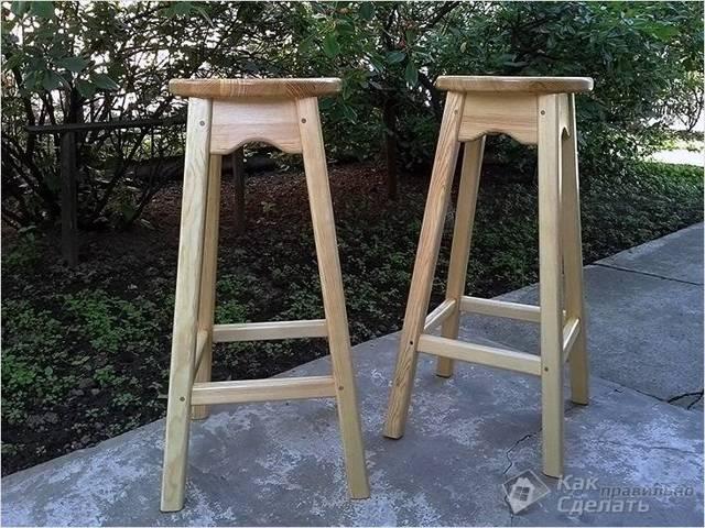 Барный стул из цепи своими руками
