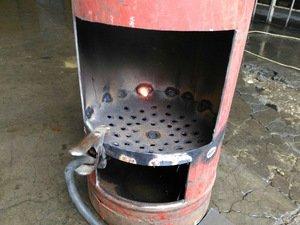 Дровяная печь из газового баллона своими руками
