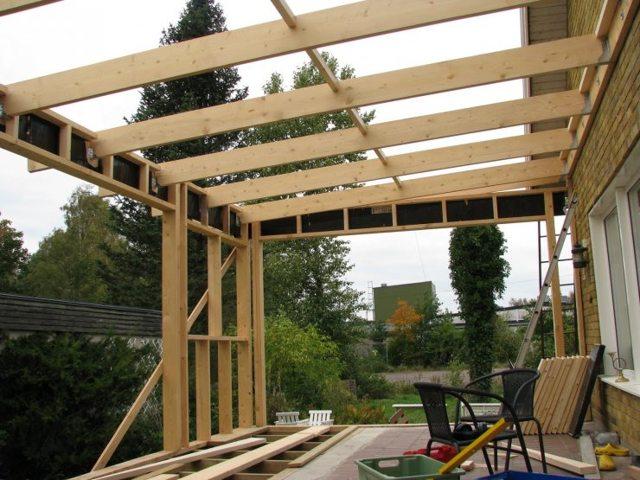 Строительство террасы своими руками